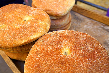 Traditional Moroccan bread, Meknes, Morocco, North Africa, Africa