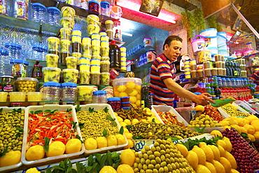 Provision stall, Medina, Meknes, Morocco, North Africa, Africa