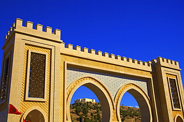 Bab Ijid with Museum of Arms, Fez, Morocco, North Africa, Africa