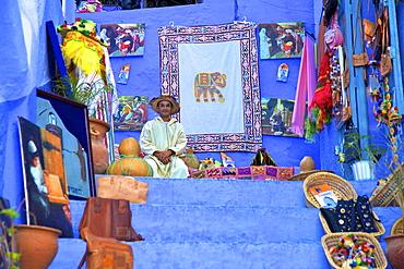 Souvenir shop, Chefchaouen, Morocco, North Africa, Africa