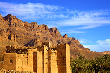 Kasbah at Tamnougalt, Morocco, North Africa, Africa