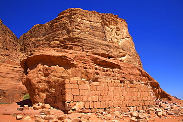 Remains of T E Lawrence's House, Wadi Rum, Jordan, Middle East