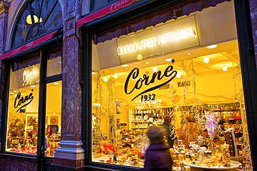 Chocolate Shop, Galleries St. Hubert, Brussels, Belgium, Europe