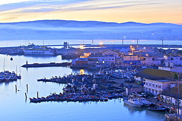 The Harbour at dawn, Tangier, Morocco, North Africa, Africa