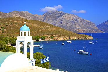 Church at Emporios, Kalymnos, Dodecanese, Greek Islands, Greece, Europe