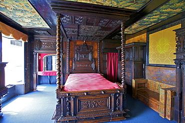 Victor Hugo's Bedroom, Hauteville House, Victor Hugo's House, St. Peter Port, Guernsey, Channel Islands, United Kingdom, Europe