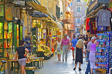 Shopping, Corfu Old Town, Corfu, The Ionian Islands, Greek Islands, Greece, Europe