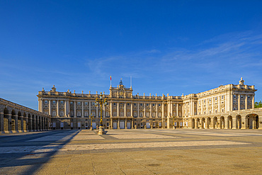 Exterior of The Royal Palace, Madrid, Spain, Europe