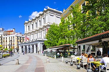 Restaurant on the Plaza de Oriente, Madrid, Spain, Europe