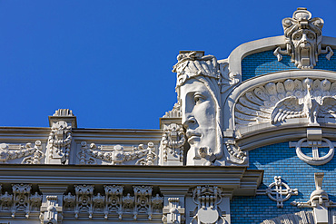 Art Nouveau architecture, Riga, Latvia, Europe