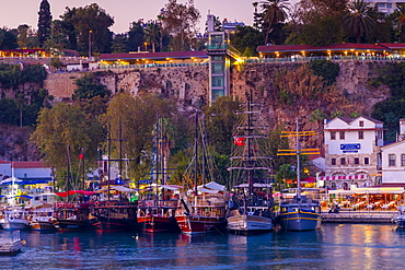 Antalya Harbour with New Lift and Viewing Area, Antalya, Turkey, Asia Minor, Eurasia