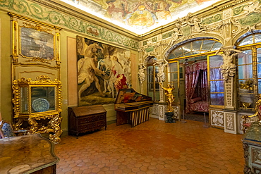 Ceremonial Room, Lascaris Palace, Nice, Alpes-Maritimes, Cote d'Azur, French Riviera, Provence, France, Mediterranean, Europe