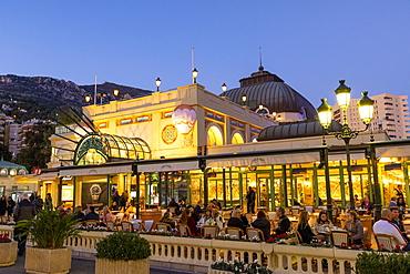 Cafe de Paris, Monte Carlo, Monaco, Mediterranean, Europe