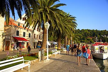 Esplanade, Cavtat, Dalmatia, Croatia, Europe