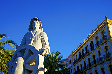 Seafarer's Monument, Ibiza Town, Ibiza, Balearic Islands, Spain, Europe