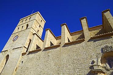 Cathedral, Dalt Vila, Ibiza Old Town, Ibiza, Balearic Islands, Spain, Europe