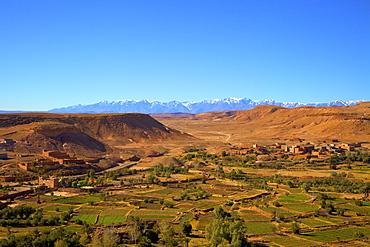 Atlas Mountains, Ait-Benhaddou, Morocco, North Africa, Africa