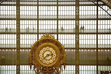 Musee d'Orsay clock, Paris, France, Europe