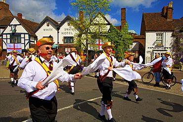 Morris dancing, Stratford upon Avon, Warwickshire, England, United Kingdom, Europe