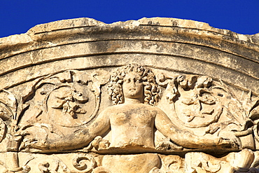 Detail of Temple of Hadrian, Ephesus, Anatolia, Turkey, Asia Minor, Eurasia