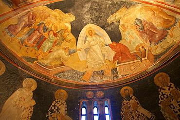 Anastis fresco, interior of Church of St. Saviour in Chora (Kariye Camii), UNESCO World Heritage Site, Istanbul, Turkey,  Turkey, Europe