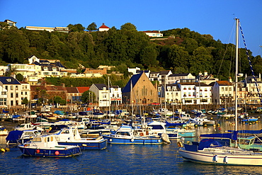 St. Aubin's Harbour, St. Aubin, Jersey, Channel Islands, Europe