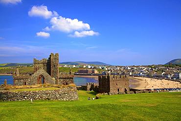Original Peel Cathedral, Peel Castle, St. Patrick's Isle, Isle of Man, Europe