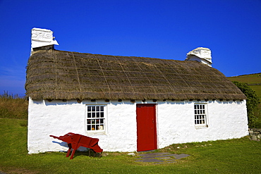 Traditional house, Cregneash, Isle of Man,Europe