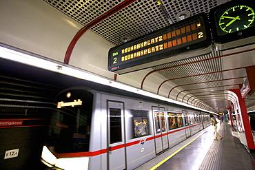 U-Bahn, Vienna, Austria, Europe