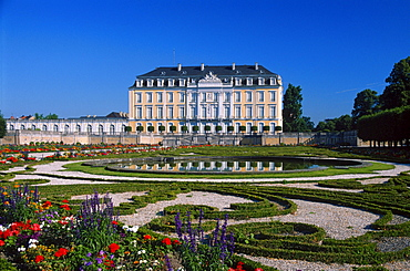 Castle Augustusburg with park, Bruhl, North Rhine-Westphalia, Germany