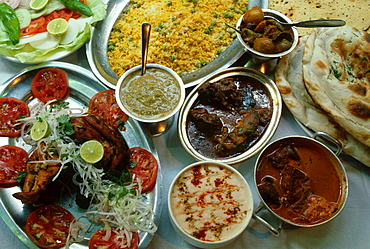 Curries, Indian food, Kashmir, India