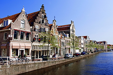 Row of houses at canal, Alkmaar, Netherlands
