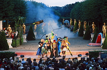 Performance of musical 'Ein Sommernachtstraum' in garden theatre Herrenhausen, Hanover, Lower Saxony, Germany