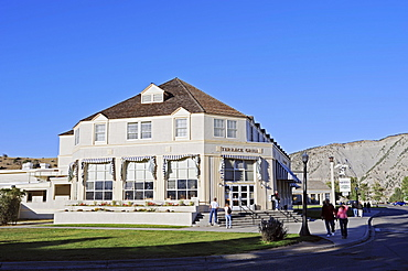 Restaurant 'Terrace Grill', Mammoth Hot Springs, Yellowstone national park, Wyoming, USA