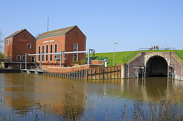 Pump station Greetsiel, lower Saxony, Germany