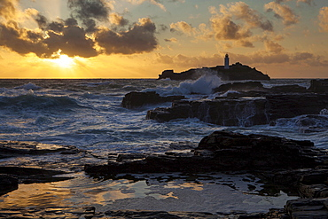 Lighthouse, Gwithian, Cornwall, England