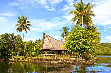 House of the men, chiefs, assembly house, Yap Island, Yap Islands, Federated States of Micronesia