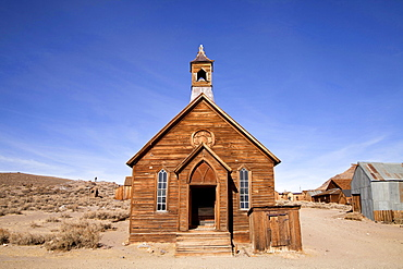 Methodist church, ghost town, mining town, Bodie State Historic Park, Bodie, California, USA