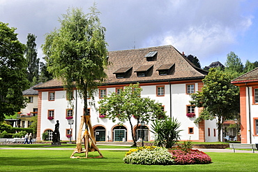 Haus des Gastes, spa gardens, Sankt Blasien, Waldshut, Black Forest, Baden-Wurttemberg, Germany / St. Blasien, House of the Guest