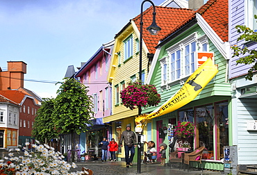 Center, centre, pedestrian area, old town, Stavanger, Rogaland, Norway