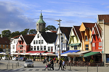 Wooden houses, Vagan, old town, Stavanger, Rogaland, Norway