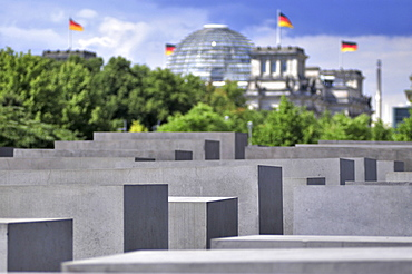Holocaust Memorial, Reichstag building, Berlin, Germany / Memorial to the Murdered Jews of Europe