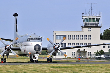 Breguet 1150 Atlantic, Tower, Air Force Museum of the German armed forces, Gatow, Berlin, Germany / Military Historic Museum, MHM, airfield Berlin-Gutow