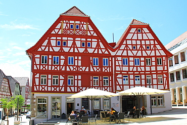 Frame houses in the oldtown, Eppingen, Baden Wuerttemberg, Germany