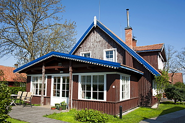 Fisherman's house, Nida, Curonian Spit, Lithuania, Baltic states, Europe