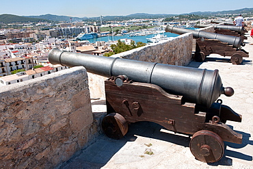 Ibiza castle, Dalt Vila, Eivissa, Icanon, balearic islands, Spain, Europe/ Ibiza