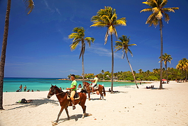 horseriding at Bacuranao Beach, Playas del este, Havana, Cuba, Carribean