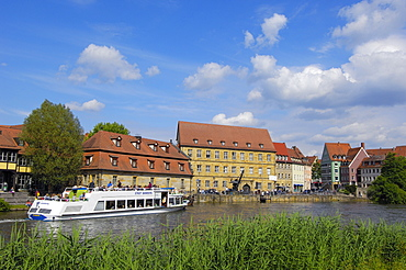 Bamberg, UNESCO World Heritage site, Little Venice , Regnitz river, Old fishermen's houses, Franconia, Bavaria, Germany, Europe