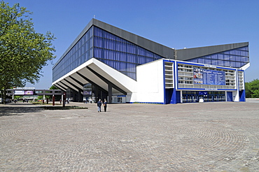Gruga Park, entrance, Gruga Hall, event hall, concert hall, Essen, North Rhine-Westphalia, Germany