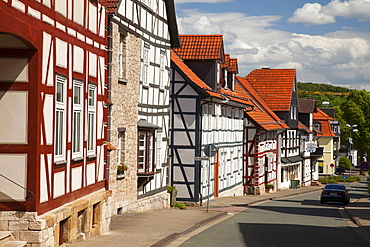Half-timbered houses. old town, Korbach, Waldecker Land region, Hesse, Germany